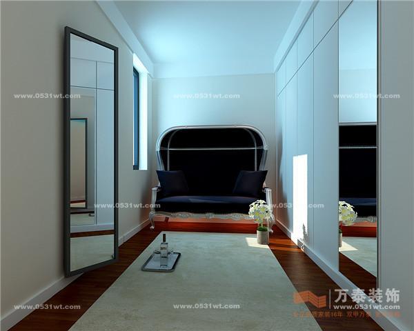 南鲁能领秀城港式现代风格装修效果图 设计师案例 万泰装饰