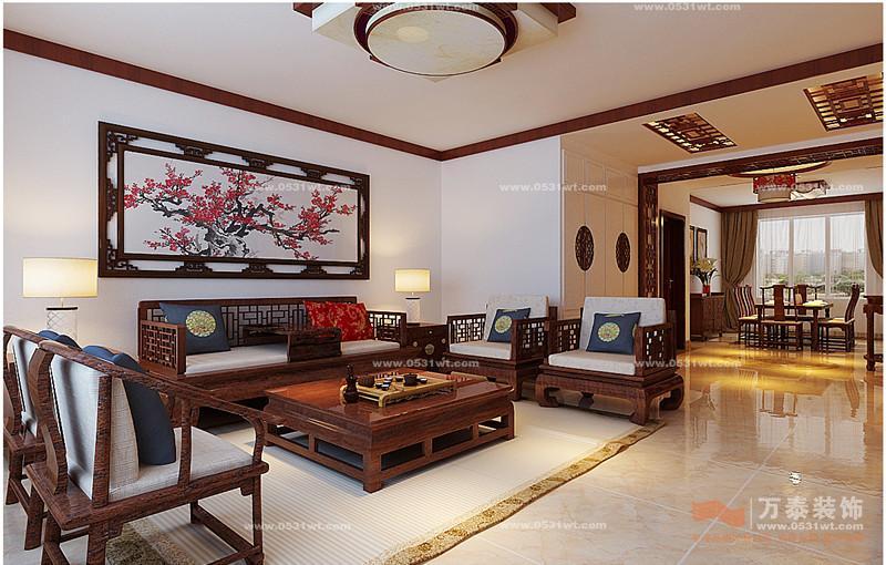 红木装修客厅效果图
