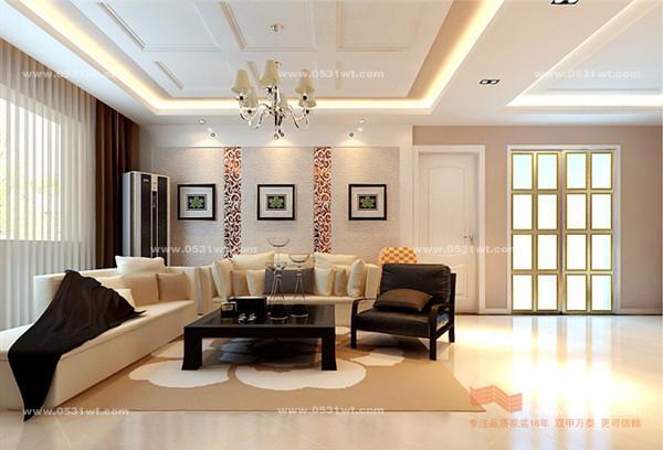 设计联播 济南三箭汇福山庄室内装修效果图 现代简约风格