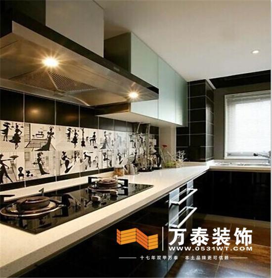 济南万泰装饰:最省钱的小户型厨房装修方法