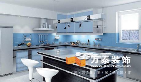 蓝色瓷砖厨房装修效果图