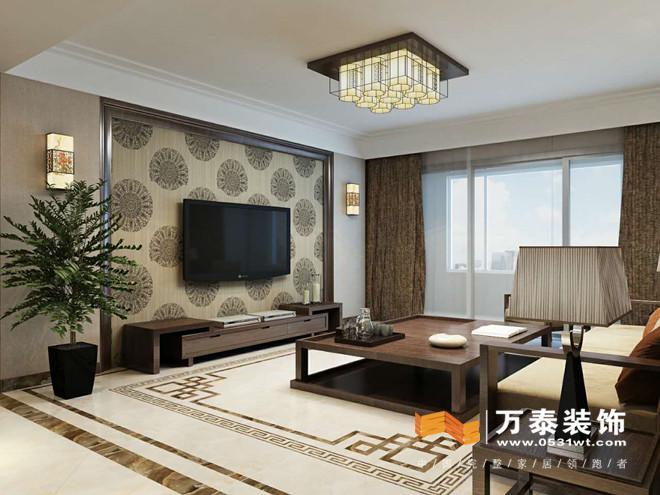 济南东城逸家140平简约中式室内装修案例