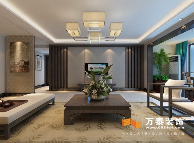 济南颐馨苑170平新中式风格室内设计装修案例