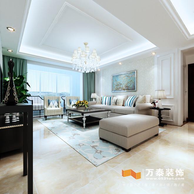 济南中海天悦府简欧风格室内装修设计案例