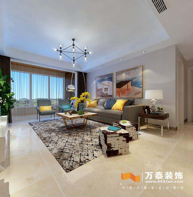 济南东城逸家现代简约风格室内装修设计案例