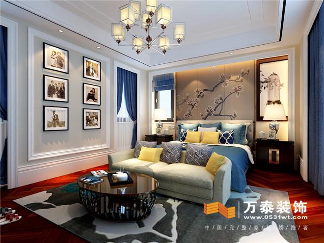 济南新中式风格家庭装修设计实景案例