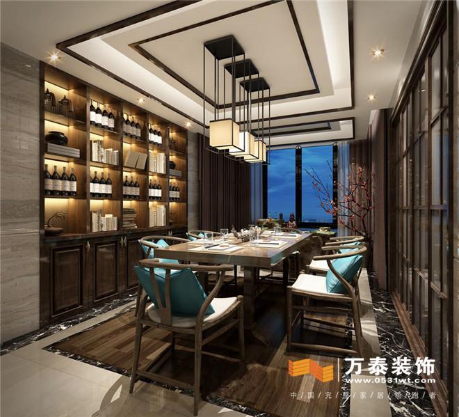 济南佛山静院176平新中式风格装修案例图片
