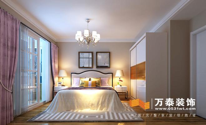墙面的造型使卧室的空间更加精致,色彩搭配让整个卧室充满了寂静与安宁,浪漫温馨,使人心情祥和。 次卧室:  榻榻米+书桌+书柜+衣柜的形式,是次卧室这个多功能空间的功能发挥的淋漓尽致。 平面设计图:餐厅与客厅区域通过斗柜的形式划分明确,但是原始客餐厅空间偏小,客厅影视墙比较短,通过隔断的形式延伸了整个影视墙的墙面,同时增大了整个客餐厅的面积。