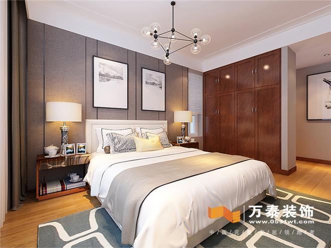 主卧室采用高级灰的颜色搭配