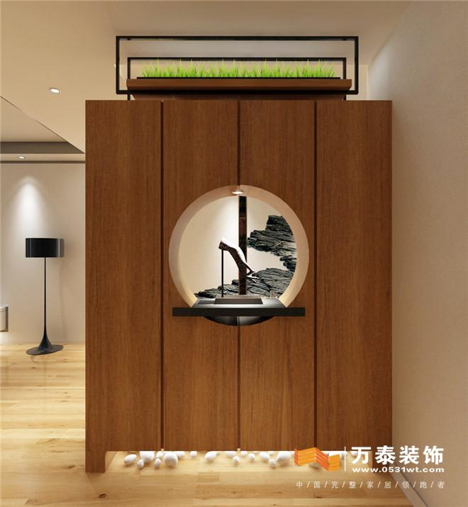 济南黄金御园167平新中式风格装修案例_新房设计案例