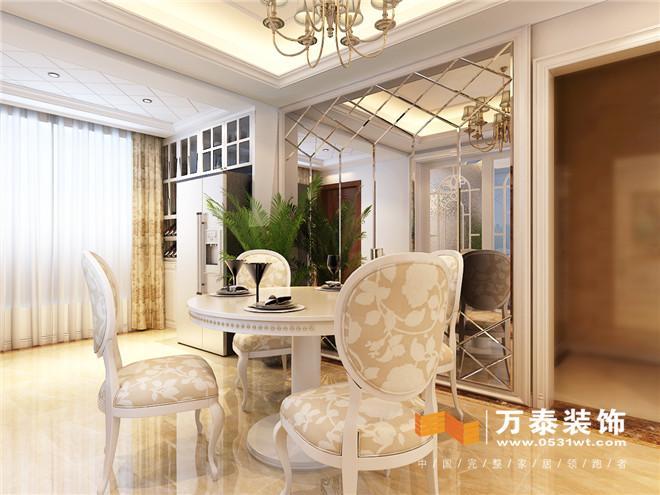 客厅:  影视墙区域做了隐形门的设计手法,保证了空间的整体性.