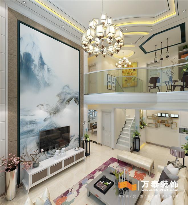 济南群盛华城230平现代简约风格装修设计案例