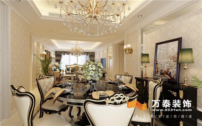 浪漫的法式简欧:门厅设计简单实用,客厅隐形门的设计扩大影视墙的空间