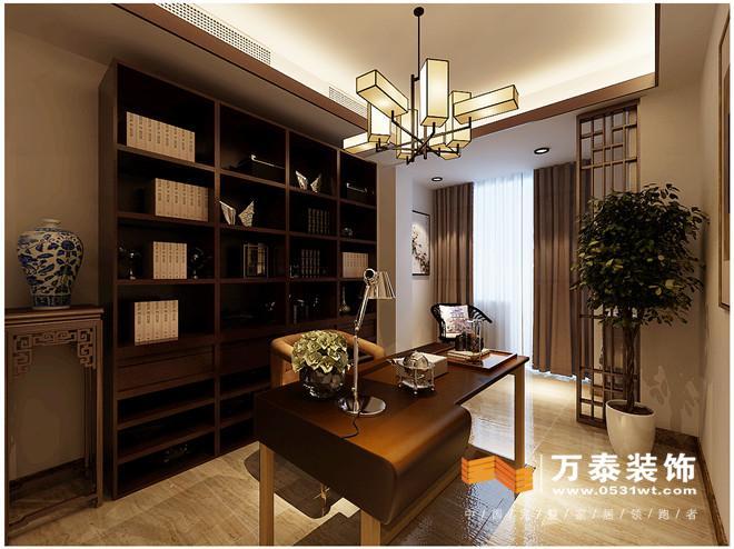 济南中海国际160平新中式风格装修设计案例
