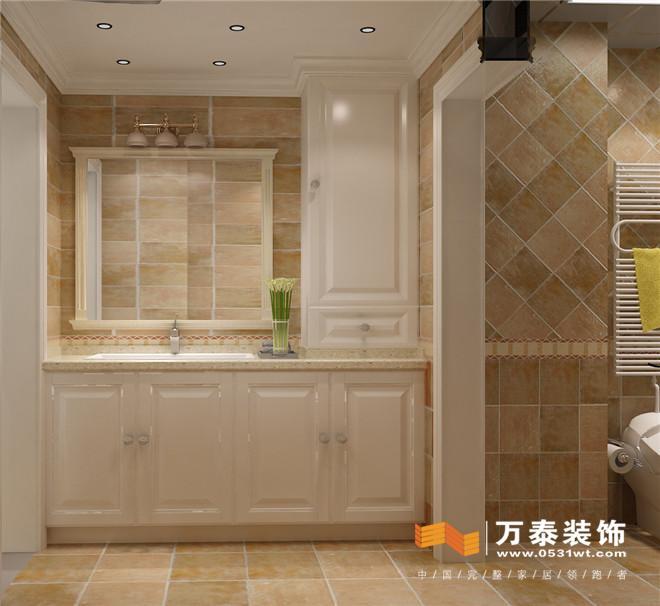 济南锦兰园160平法式简约风格装修设计案例