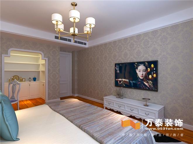 客厅:  客厅影视墙白色混油线条配合灯带、瓷砖上墙,效果突出,整体大气。本案整体色调为暖色调为主,有种温馨的感觉 客厅:  沙发背景墙简单是高太阳线造型配合整体壁布,质感分明。吊顶配合地面造型,相互呼应。3卧室拆除了部分墙体,还把主卫改成了衣帽间,通过业主的赞同,这样更大化的个性定制 餐厅:  走廊:  门厅:  阳台:  书房:  书房:  女儿房:  女儿房:  主卧:  主做了床头背景墙线条造型,整体配合壁布,尽显华贵。