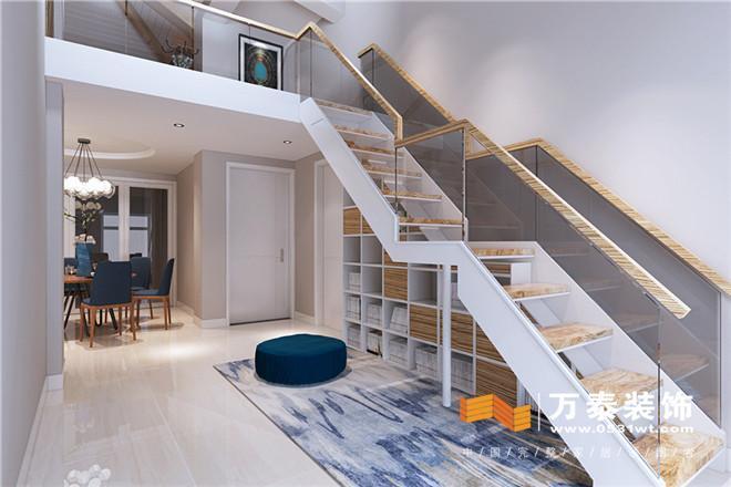 楼梯做在客厅的效果图