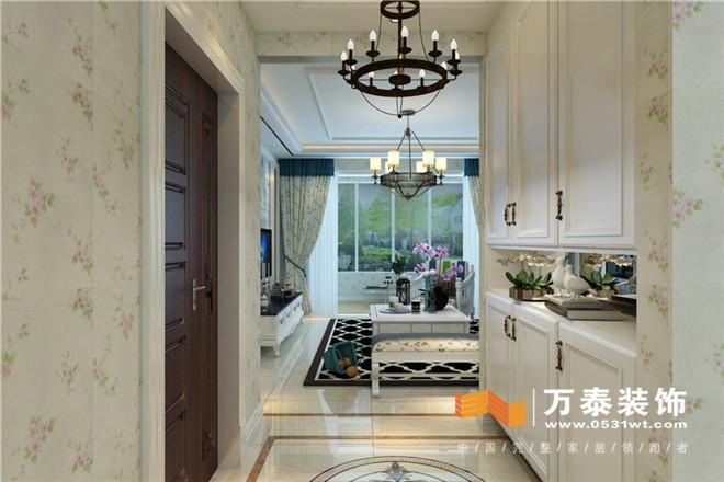 不高后改为西厨,厨房采用仿古砖和浅白色开放漆欧式厨房等等细节设计.