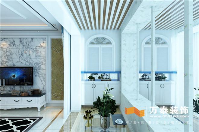 {设计联播}济南中铁逸都145平简约欧式风格装修设计案例