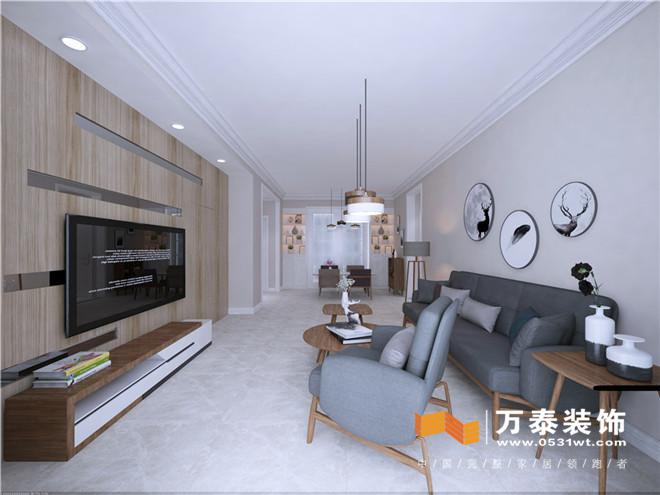 济南领秀公馆120平北欧风格装修设计效果图
