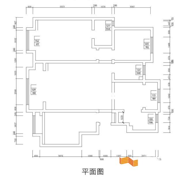 卧室:   平面设计图