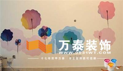 济南软装装饰:个性墙体彩绘——为家居添新装!