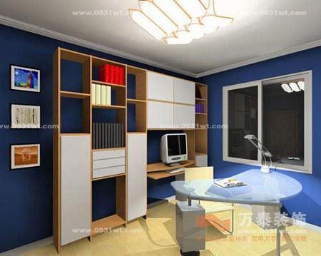 济南软装装饰:2013书房装修设计图 惬意设计绝对个性