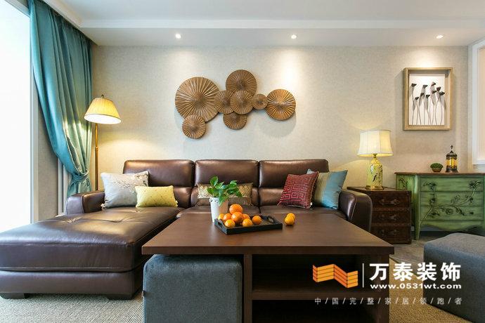 中海国际b3装修设计案例|东南亚装修效果图|济南家庭装修