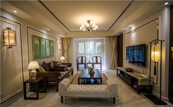 济南家庭装修|蓝石大溪地新中式风格实景装修设计