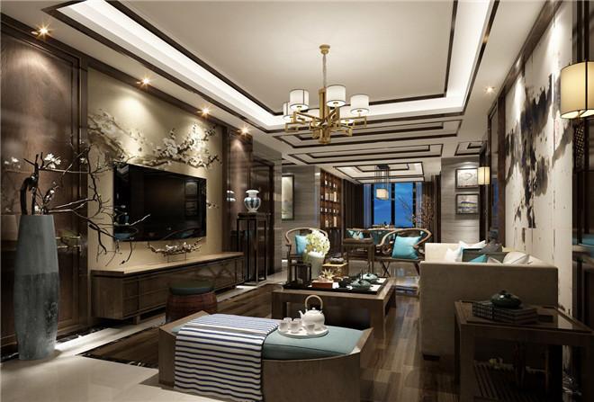 济南佛山静院176平新中式风格设计案例图片