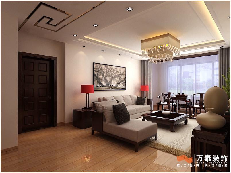 户 138平 三室两厅两卫 中式古典风格装修效果图欣赏