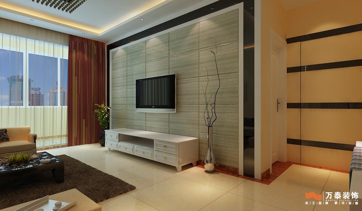 翡翠清河d 6二室二厅一卫装修案例效果图 110平米设计