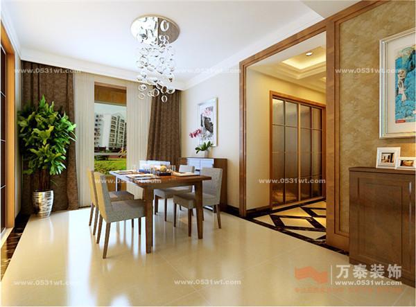 济南鲁能领秀城装修效果图 147平三居室现代简约