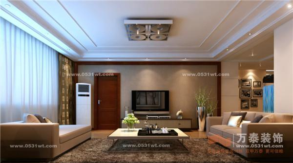 济南现代逸城装修效果图7万半包170温馨之家 现代港式