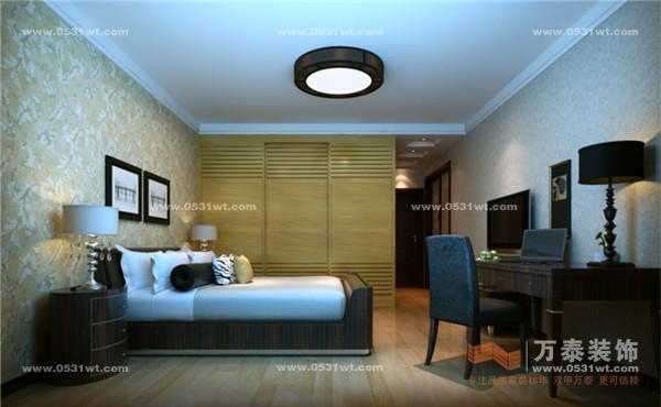 济南现代逸城装修效果图7万半包170温馨之家 现代港式风格