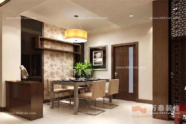 名士豪庭装饰设计 95平 新中式装修效果图高清图片