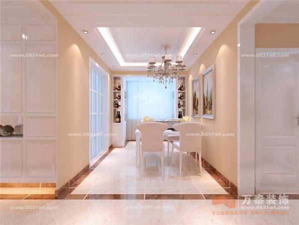 中海国际社区 135平 简欧风格装修效果图与实景图