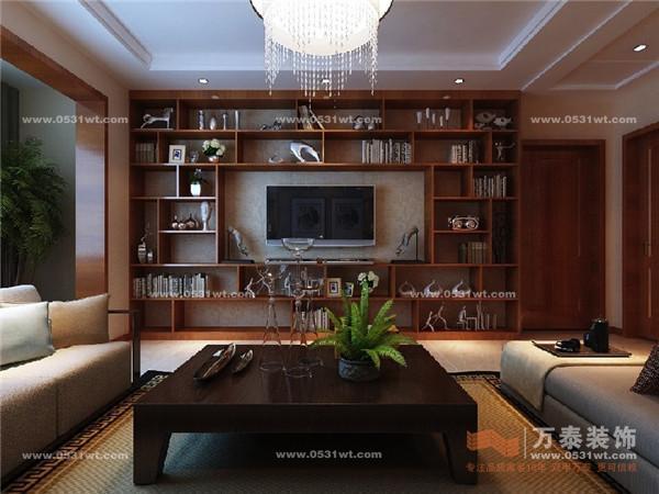 中海国际 135平 新中式风格装修效果图图片