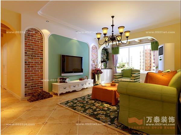 田园风格装修效果图 设计师案例 万泰装饰 -三室两厅一厨两卫 138平