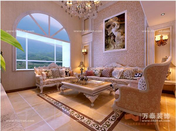 济南别墅装修:雅居园 四室两厅一厨两卫 220平 简欧风格装修效果图图片