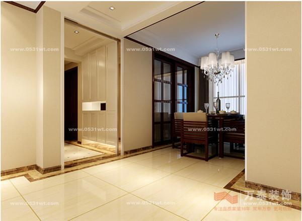 园 130平 三室两厅一卫 现代中式装修效果图欣赏