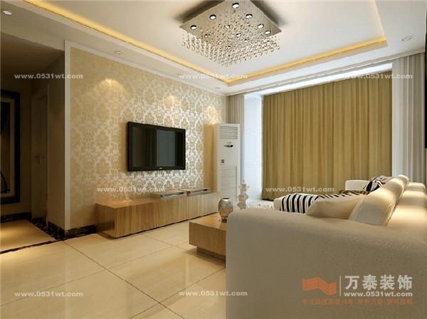 家庭欧式风格影视墙装修图
