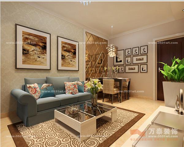 R03 泉景天沅雅苑 70平 一室两厅 现代简约风格装修效果图欣赏