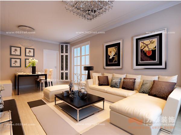 中海国际装修设计 87平 两室一厅 现代简约风格装修效果图