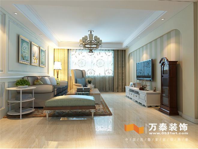 客厅沙发背景:护墙板造型