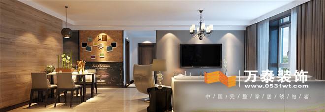 案例 济南名筑一品北欧风格125平室内装修原创设计