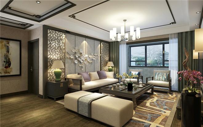 济南东城逸家140平新中式风格装修设计案例