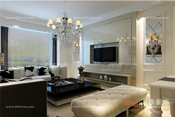 挑设计 世佳戎居装修效果图 100平 两室两厅一厨两卫 简欧