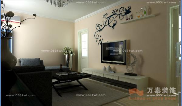 济南鑫苑名家装修效果图 两室一厅一厨一卫 100平现代简约风格 2.1万