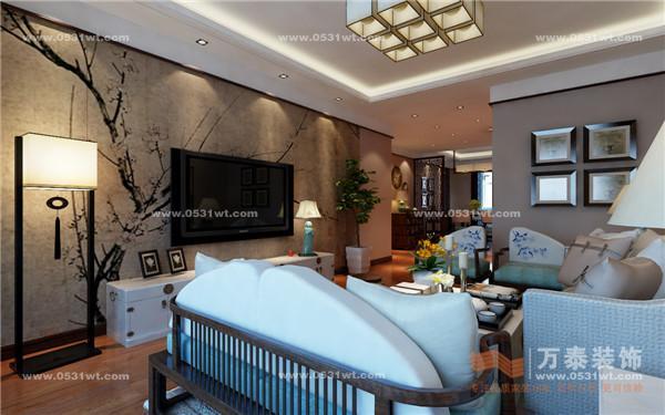 济南山水庭院案例 新中式装修效果图_新房设计案例